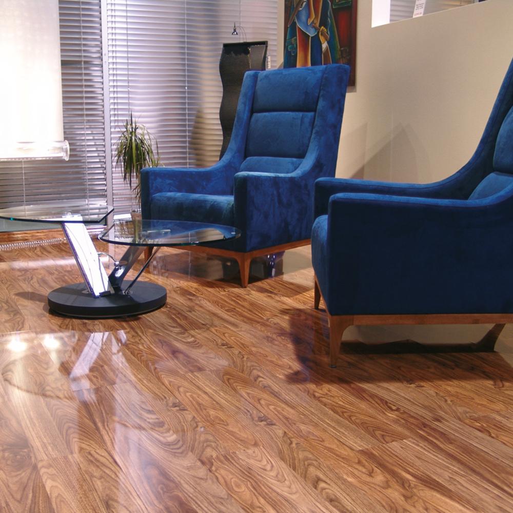 elesgo laminat hochglanz walnuss superglanz floor glattkante. Black Bedroom Furniture Sets. Home Design Ideas