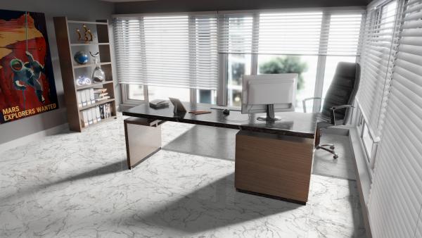 "Laminat ""Hochglanz Carrara Marmor"" - Stone Line"