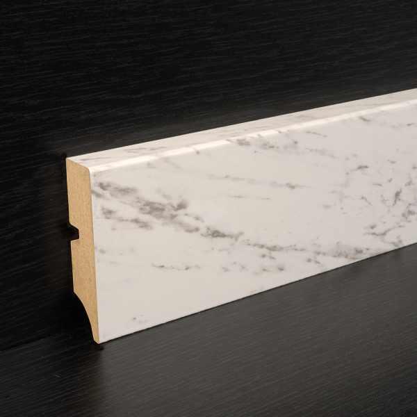 "Elesgo Sockelleiste ""Carrara Weiß"" 18/70 mm"