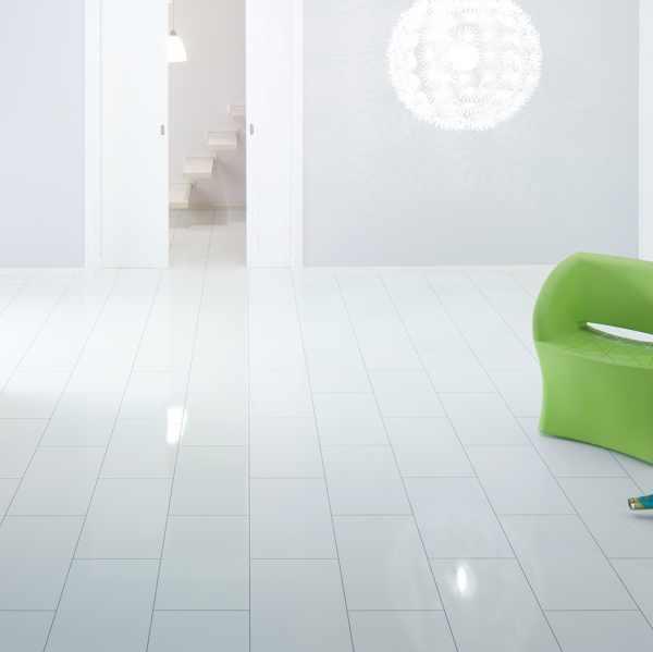 """Elesgo Laminat """"Hochglanz Color white"""" - Superglanz floor Maxi V5"""
