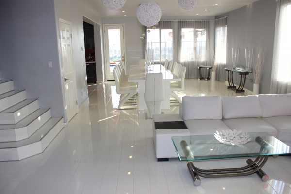 "Laminat ""Hochglanz Color White"" - Glamour Life Rundkante - 1 kaufen - Laminatparadies"