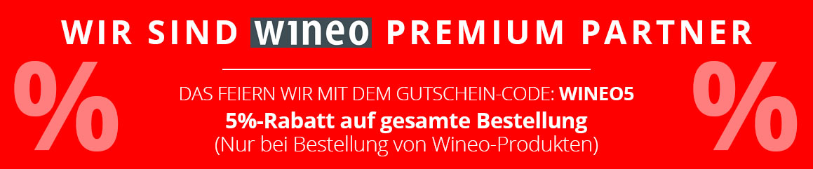 Wineo Premium Partner Aktion / 5 % Rabatt sichern!