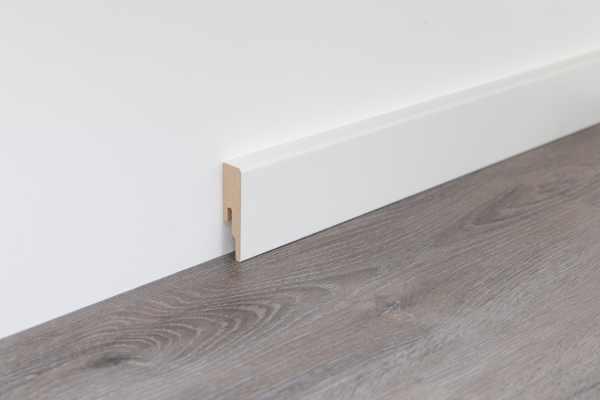 "Wineo Fußleiste Contrast ""Weiß"" 16/60 mm"
