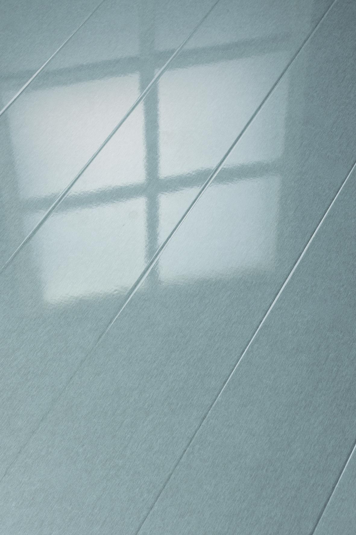laminat hochglanz metallic grau glamour life rundkante. Black Bedroom Furniture Sets. Home Design Ideas