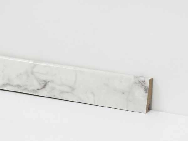 "Fußleiste ""Carrara Marble"" 18/58 mm"